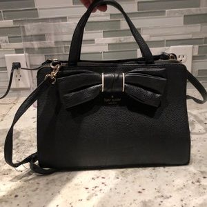 Black kate spade purse with bow